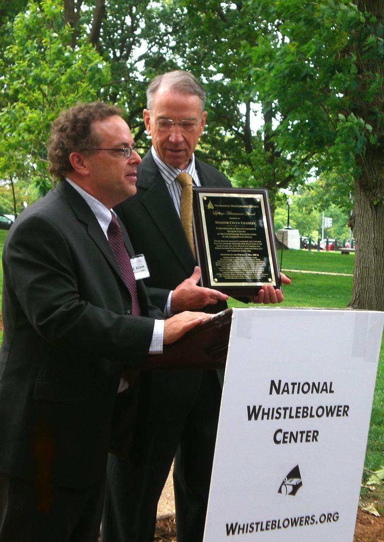 Executive Director Stephen M. Kohn and Senator Chuck Grassley